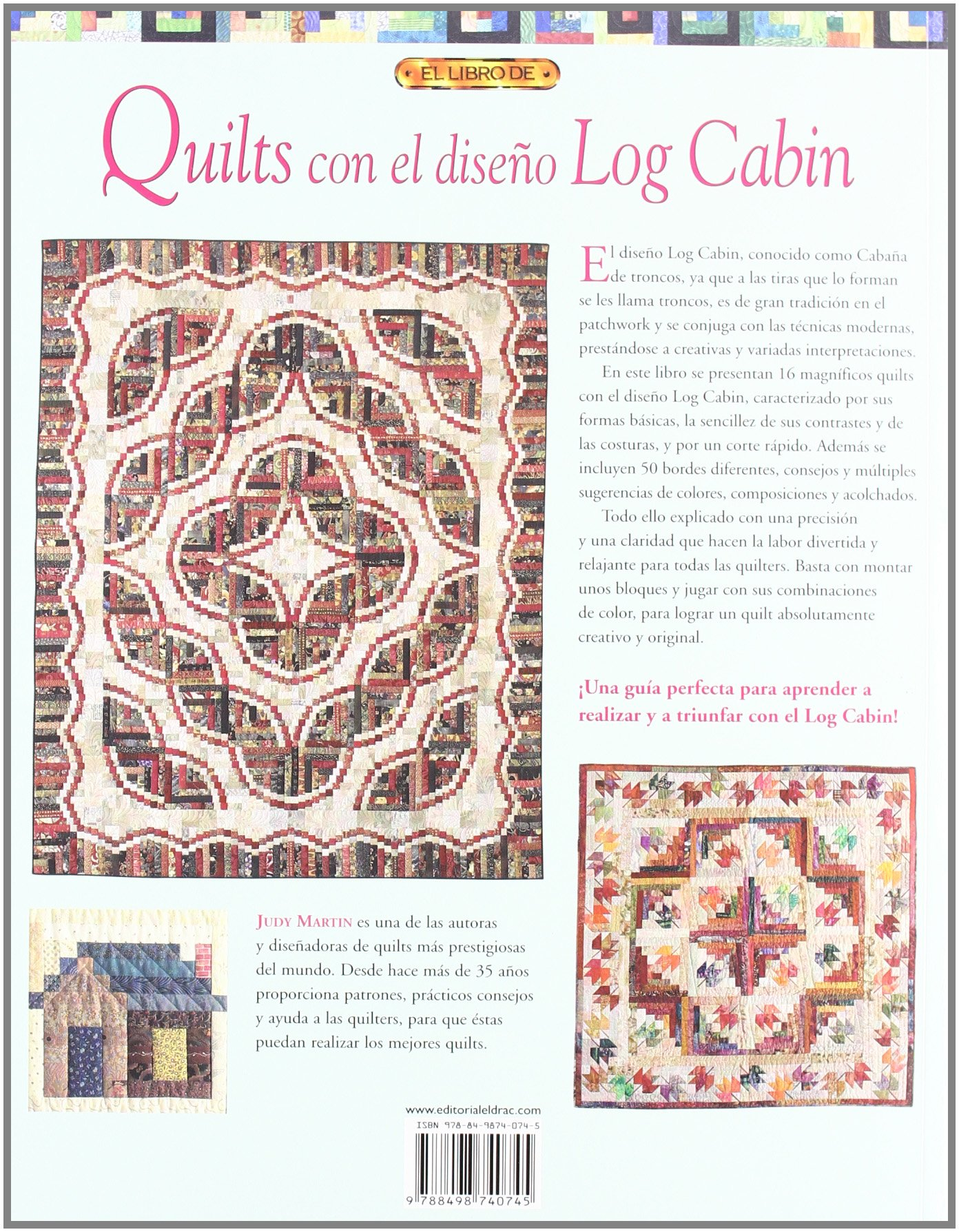 Libro: Quilts con el diseño Log Cabin - Teixits Es Tren