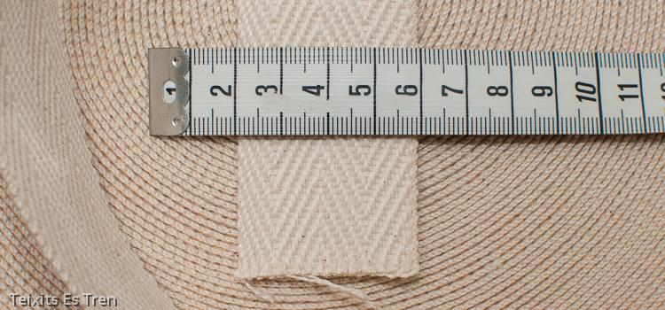Cinta de espiga gruesa, 100% algodón