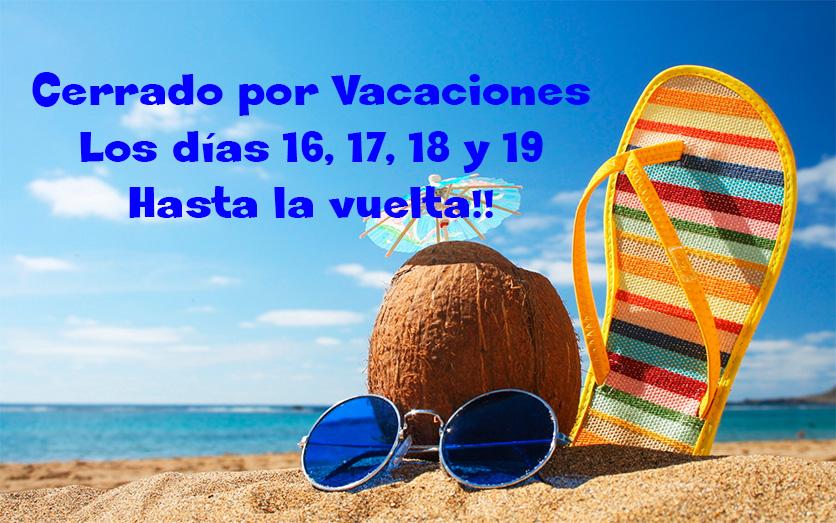 Nos vamos unos días de vacaciones!